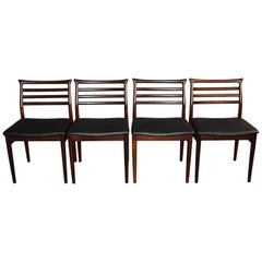 Erling Torvits Rosewood Dining Chairs