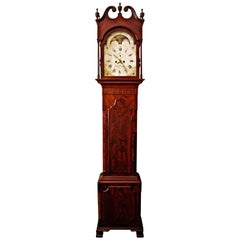 American Federal Mahogany Tall Case Clock, David Weatherly, Philadelphia