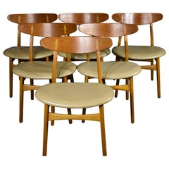 Hans J. Wegner CH-30 in Oak and Teak Dining Chairs