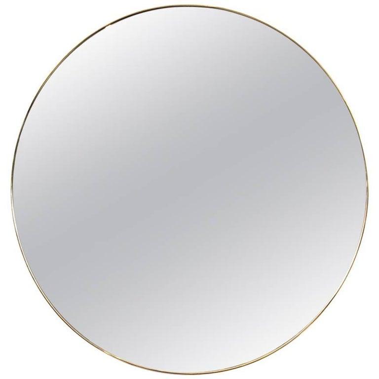 Vintage Brass Mirror For Sale