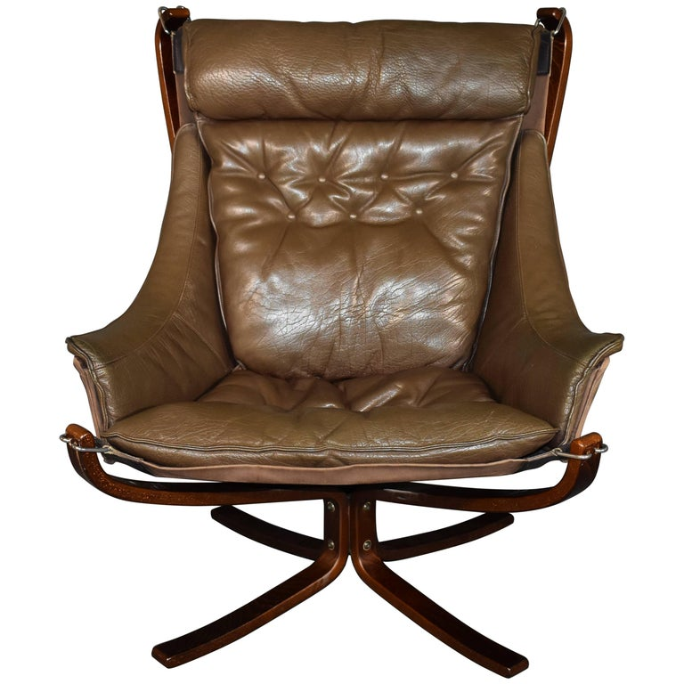 Sigurd Ressell Falcon Winged Armchair