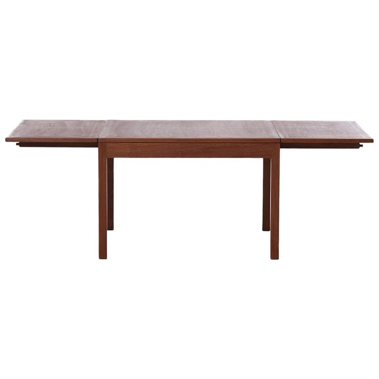 Danish Modern Mogensen Coffee Table With Drop Leaves For