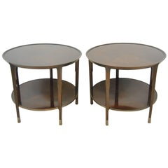 Pair of Walnut Sabre End Table by Bill Sofield for Baker Furniture