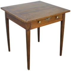Square Antique Walnut Side Table