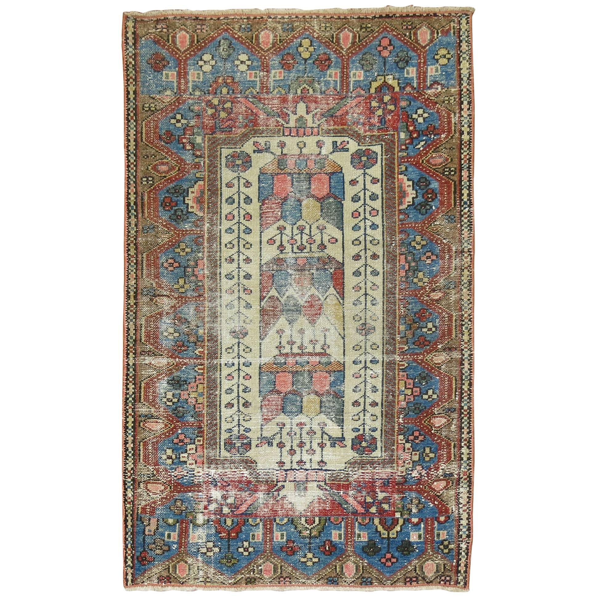 shabby chic persian malayer tiny rug for sale at 1stdibs rh 1stdibs com shabby chic carpet ideas shabby chic wall to wall carpet