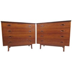 Pair of Mid-Century American Walnut Dressers
