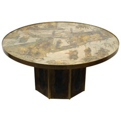 Chinoiserie Style End Table by Philip and Kelvin LaVerne