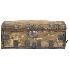 19th Century Spanish Colonial Hide Covered Trunk