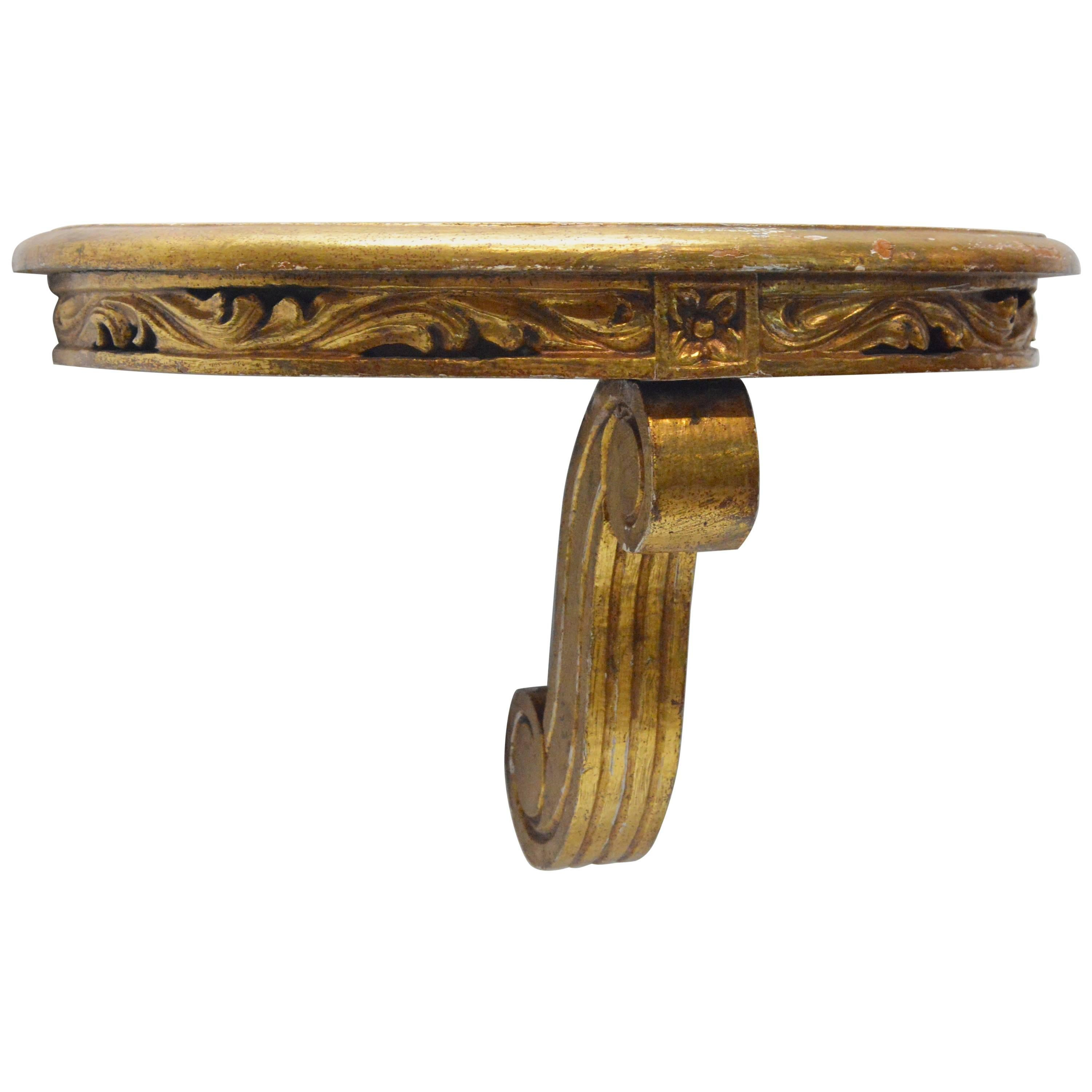 Ordinaire Carved Giltwood Wall Mount Console Shelf