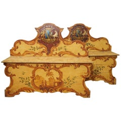 Pair of Italian Painted Casa Panca