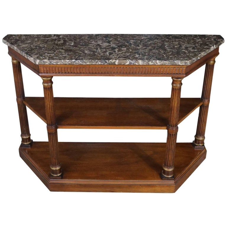 Neoclassic Palladian Style Console Table Italian Marble Top Heritage Furniture