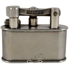 1930s Dunhill, Asprey & Co. Art Deco Silver Table Lighter, Great Britain