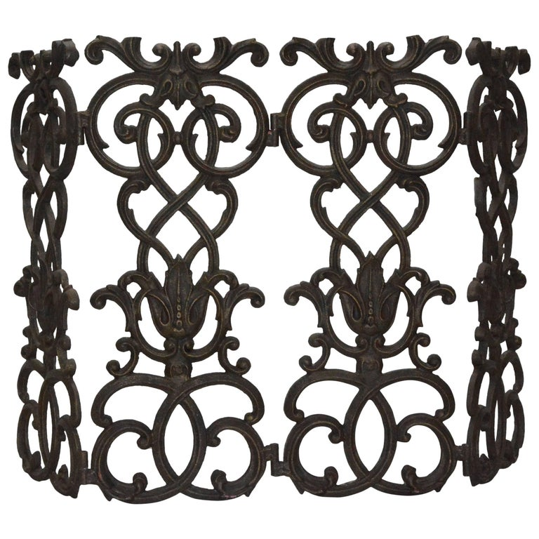 black iron fireplace screen. Victorian Cast Iron Fireplace Screen For Sale At 1stdibs
