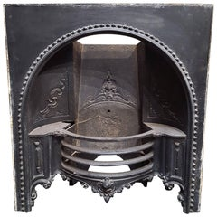 Original Cast Iron English Fireplace, Early Victorian Hob Grate