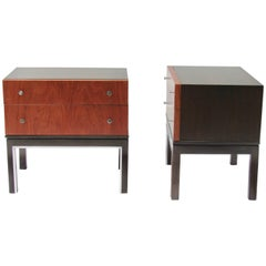 Merton Gershun Two-Toned Walnut End Tables for American of Martinsville