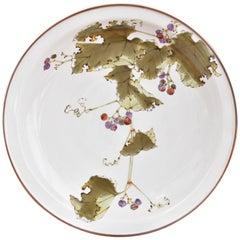 Japanese Kutani Hand-Painted Porcelain Charger