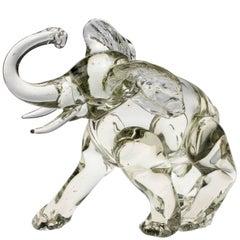 Murano Glass Elephant Figurine