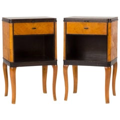"""Pair of """"Haga"""" Bedside Tables by Carl Malmsten"""