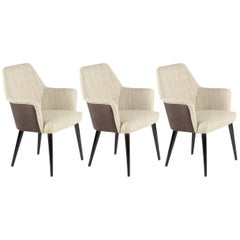 Three Mid-Century Little Armchairs by Nino Zoncada for Cassina, Signed