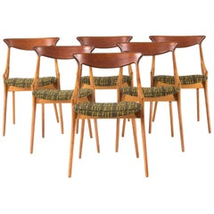 Set of Six Dining Chairs by Arne Hovmand Olsen