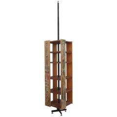 Bookcase of 1962 Original Italian Design Revolving Design