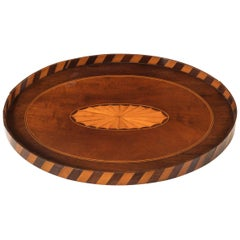 Late 19th Century Small Mahogany Oval Tray