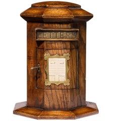 Late 19th Century Oak Private House Letter Box