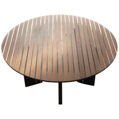 Contemporary oak and resin coffee clear table by Jonathan Field. Oil finish.