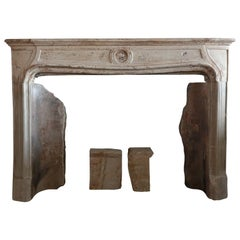 Rustic antique fireplace 18th century