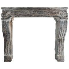 Antique Fireplace of Limestone, 853