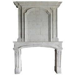 Antique Castle Fireplace, 708