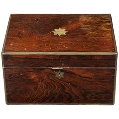 Mid-19th Century Vanity Case Inlaid with Brass Edging
