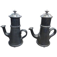 Jean Marais Huge Pair of Ceramic Teapot or Coffee Pot, circa 1970
