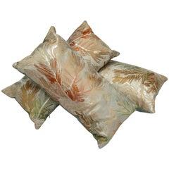 Luxury Vintage Silk Brocade Maru Obi Pillow