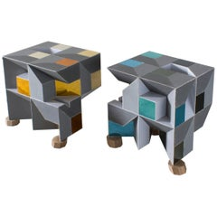 Contemporary Sguardo Cubetti 3 & 4 Side Tables , Sam Orlando Miller, 2016