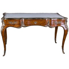 Late 20th Century Desk Bureau Plat in Louis XV Style Excellent Quality