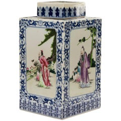 Mid-19th Century Chinese Porcelain Vase and Lid