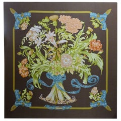 Beautiful Hermes Scarf Mounted on Panel, circa 1960