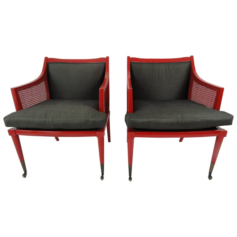Pair of Edward Wormley Chairs for Dunbar For Sale