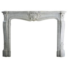 Antique Marble Fireplace-861