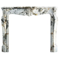 Antique Marble Fireplace-862