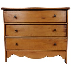 Early 19th Century American Miniature Pine Chest of Drawers