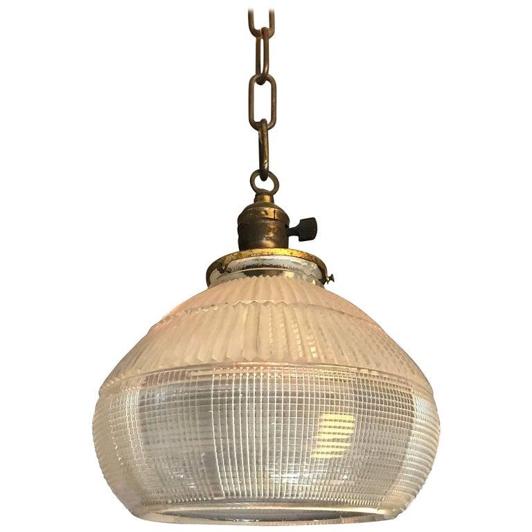 Open Holophane Bell Pendant Light