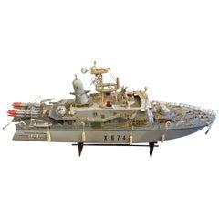 Beautiful Warship Model, circa 1960