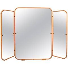 Italian, 1950s Triptych Mirror