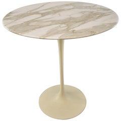 Mid-Century Eero Saarinen for Knoll Marble Tulip Side Table, circa 1960s