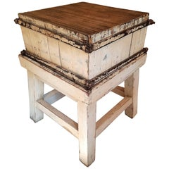 Sweet Vintage Butcher Block from France, circa 1900