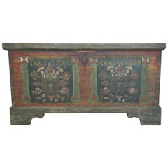 Painted Blanket Chest Signed 1848