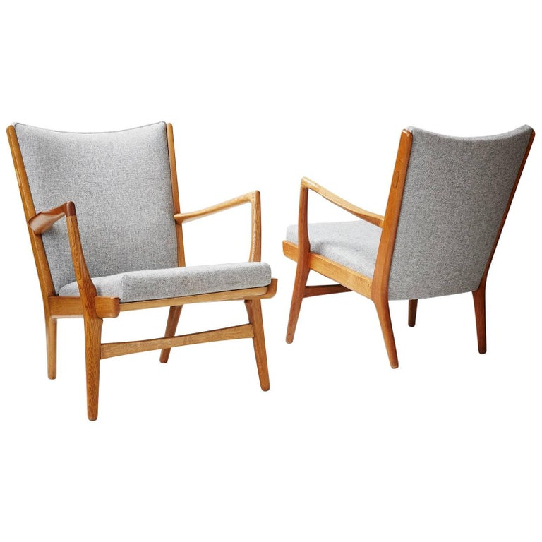Pair of Hans Wegner AP-16 Chairs, Oak, 1952