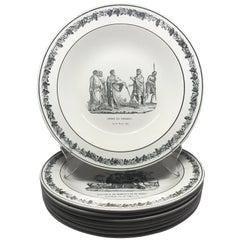 Set of Eight Creil Creamware Plates
